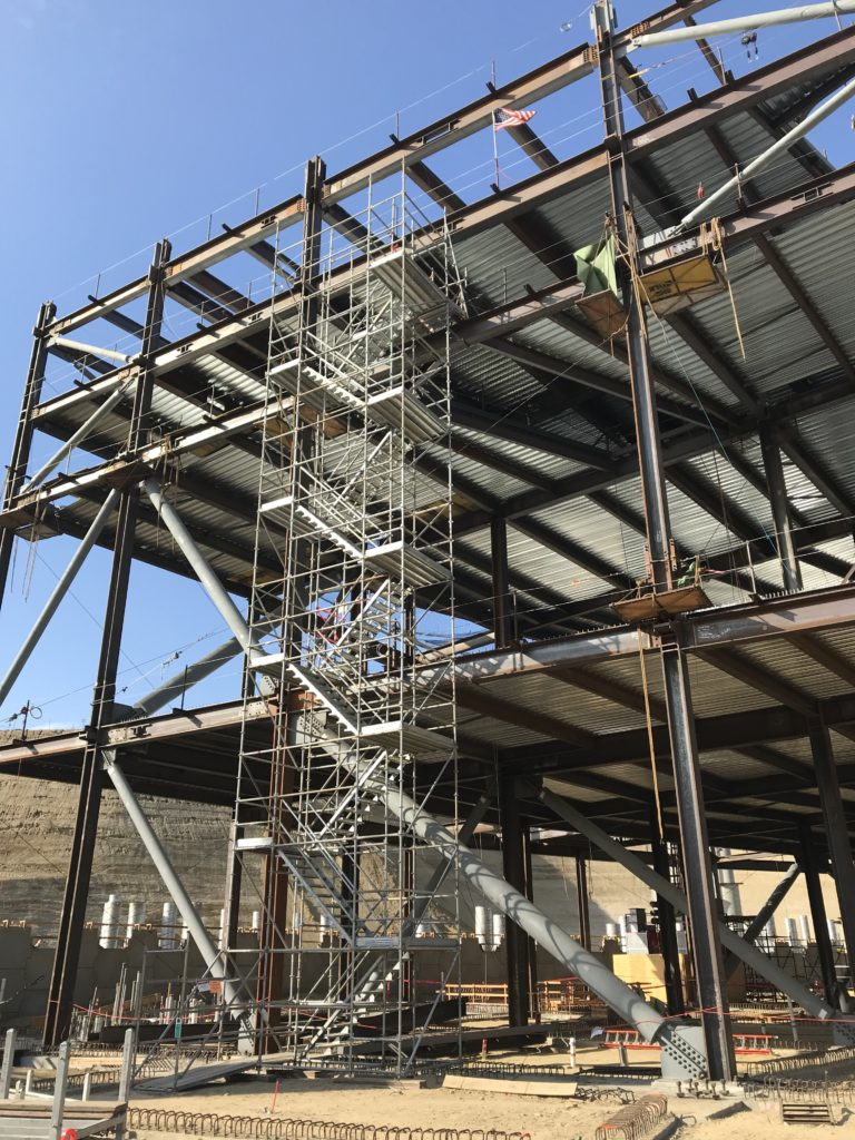 Stair Tower by Major Scaffold Los Angeles