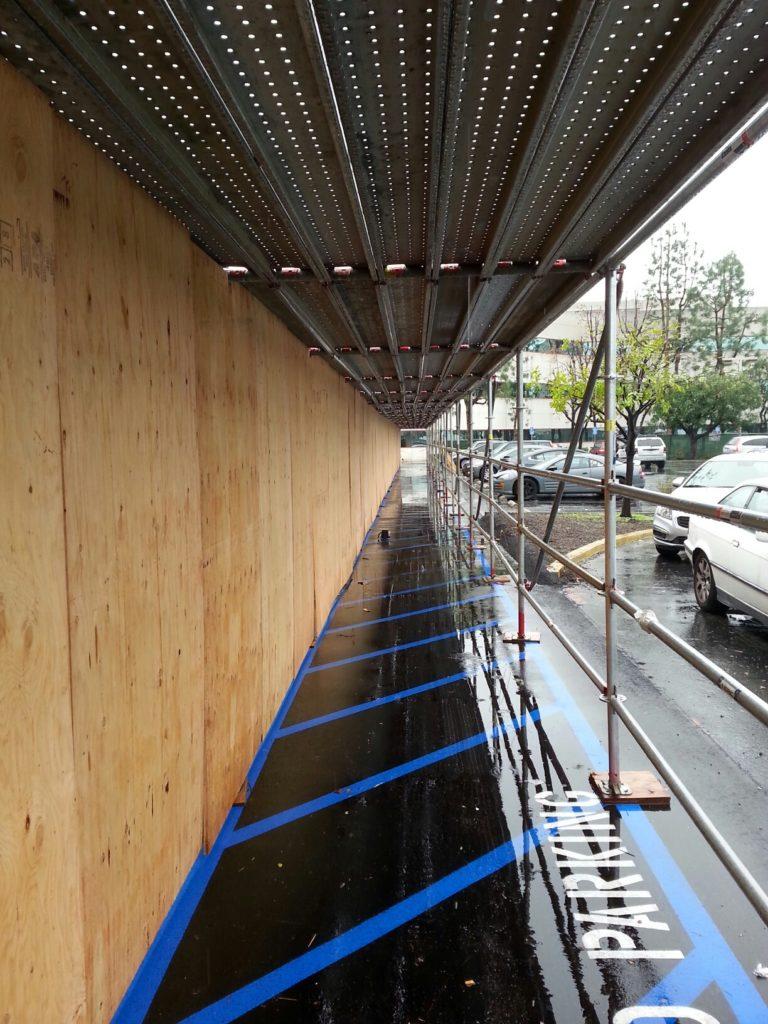 Pedestrian Canopy by Major Scaffold Los Angeles