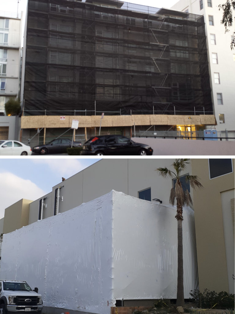 Netting-Shrinkwrap-Containment-Major-Scaffold-Los-Angeles
