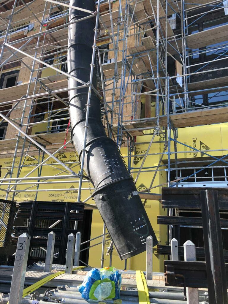 Trash Chutes Services by Major Scaffold Los Angeles
