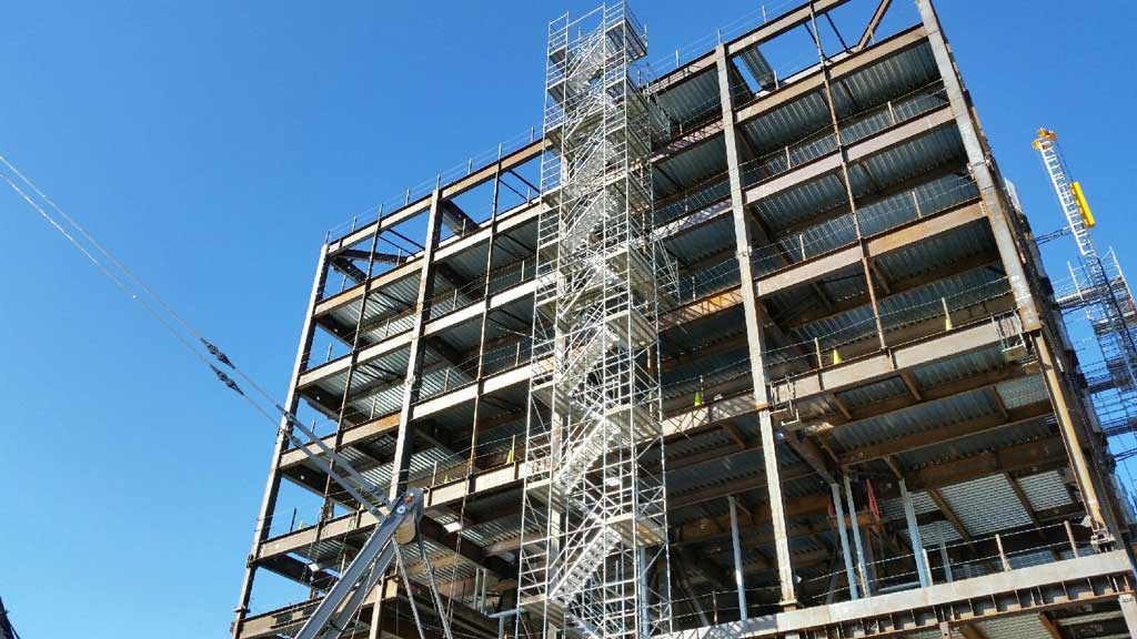 Stair Towers Services by Major Scaffold Los Angeles