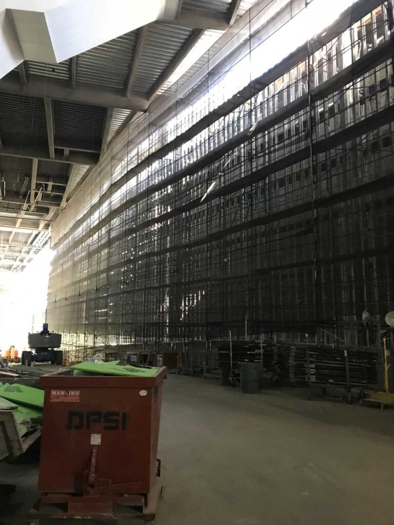 Netting & Shrinkwrap Containment by Major Scaffold Los Angeles